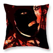 The Black Mask Throw Pillow