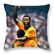 The Black Pearl Pele  Throw Pillow