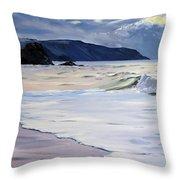 The Black Rock Widemouth Bay Throw Pillow