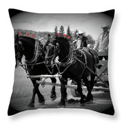 The Black Team - Bar U Ranch Throw Pillow