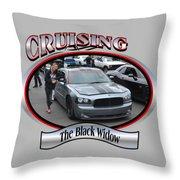 The Black Widow Butterfield Throw Pillow