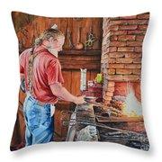 The Blacksmith Throw Pillow