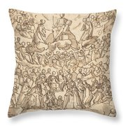The Blessed In Paradise With The Virgin And St. John The Baptist Before God Throw Pillow