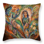 The Blessing Of Grapes Throw Pillow