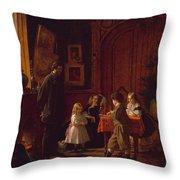 The Blodgett Family Throw Pillow