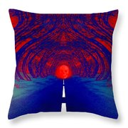 The Blue Avenue Throw Pillow