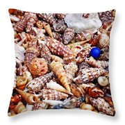 The Blue Bead Throw Pillow