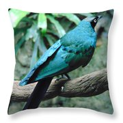 The Blue Bird Throw Pillow