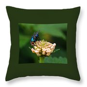 The Blue Bug Throw Pillow