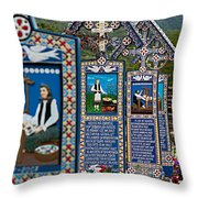 The Blue Cemetery Throw Pillow