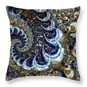 The Blue Diamonds Throw Pillow