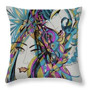 The Blue Dreams Throw Pillow