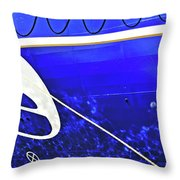 The Blue Ferry Throw Pillow