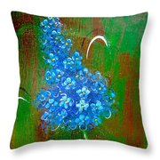 The Blue Flower Throw Pillow