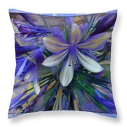 The Blue Flowers Of Melanie  Throw Pillow