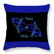 The Blue Galaxy Throw Pillow