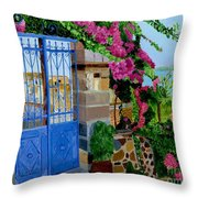 The Blue Gate  Throw Pillow