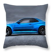 The Blue Ghost Throw Pillow