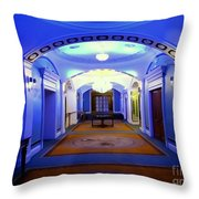 The Blue Hallway Throw Pillow
