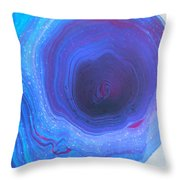 The Blue Hole Throw Pillow