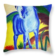 The Blue Horse Franc Marz Throw Pillow