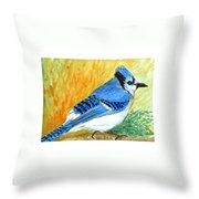 The Blue Jay Throw Pillow