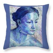 The Blue Jewel Throw Pillow