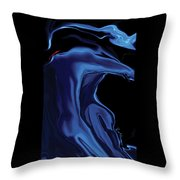 The Blue Kiss Throw Pillow