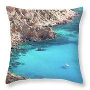 The Blue Lagoon Throw Pillow