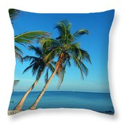 The Blue Lagoon Throw Pillow by Susanne Van Hulst