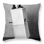 The Blue Law Girl Throw Pillow
