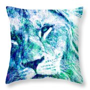 The Blue Lion Throw Pillow