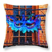 The Blue Mask Throw Pillow