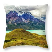 The Blue Massif Throw Pillow