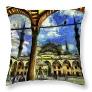The Blue Mosque Istanbul Art Throw Pillow