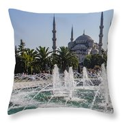 The Blue Mosque Istanbul Throw Pillow
