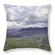 The Blue Mountains Throw Pillow