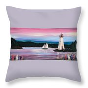 The Blue Nose II At Baddeck Nova Scotia Throw Pillow