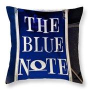 The Blue Note - Bourbon Street Throw Pillow
