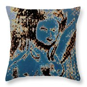 The Blue Nude Throw Pillow