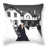 The Blue Of War At The Cottage Throw Pillow