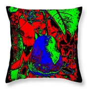 The Blue Pear Throw Pillow