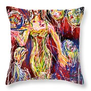 The Blue Plate Special Throw Pillow