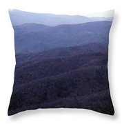 The Blue Ridge Throw Pillow