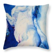 The Blue Roan Throw Pillow