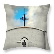 The Blue Spot In The Sky Throw Pillow