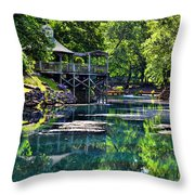 The Blue Spring Throw Pillow
