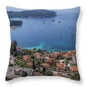 The Blue Waters Of Nice, France Throw Pillow