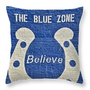 The Blue Zone Throw Pillow