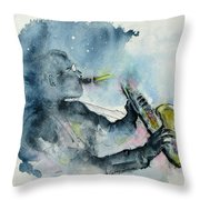 The  Blues In The Night Throw Pillow